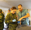 Military and Hospital staff working together